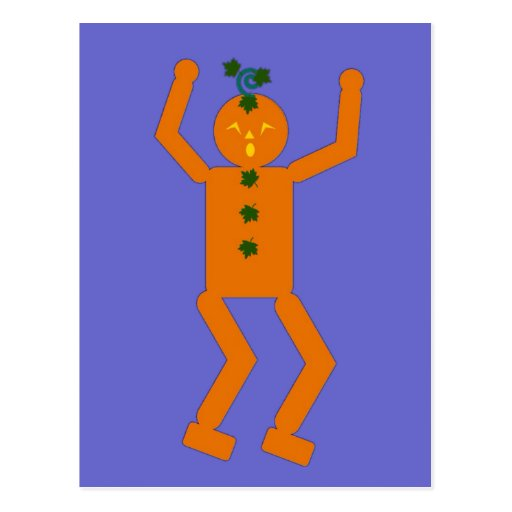Halloween Martzkin Jack-O-Lantern Postcard