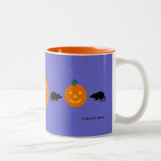 Halloween Martzkin Rat &Jack-O-Lantern Mug