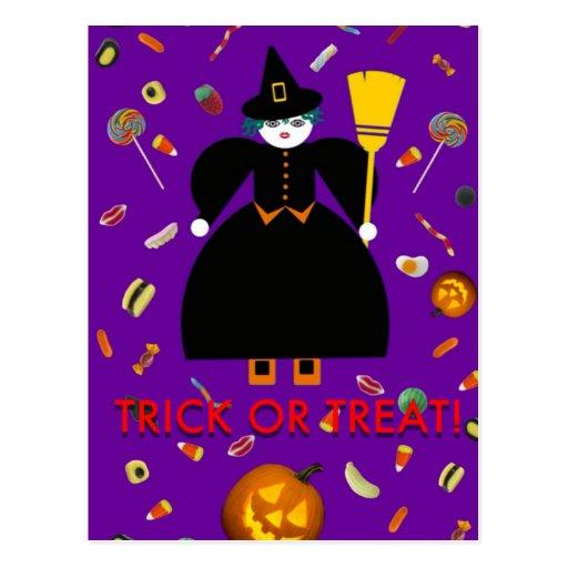 "Halloween Martzkin ""TRICK OR TREAT!"" Postcard"