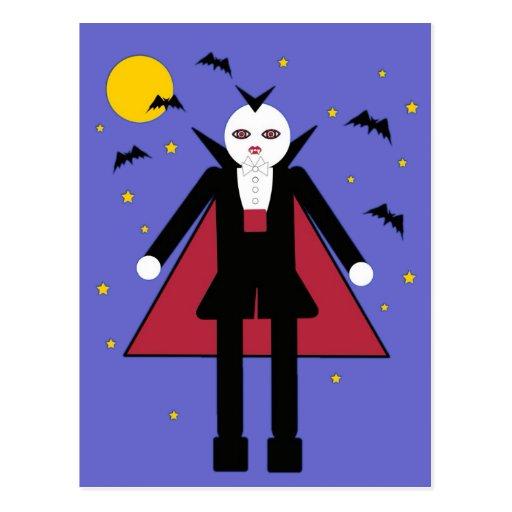 Halloween Martzkin Vampire Boy Postcard