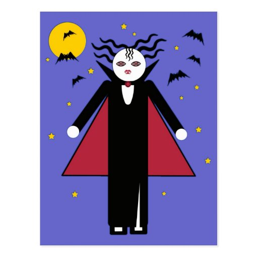 Halloween Martzkin Vampire Girl Postcard