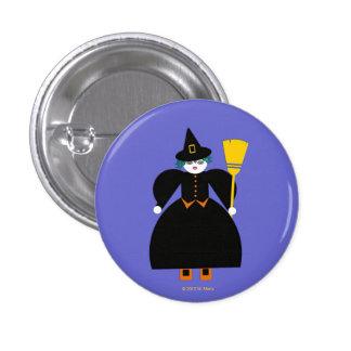 Halloween Martzkin Witch Button