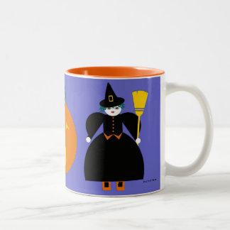 Halloween Martzkin Witch & Jack-O-Lantern Mug