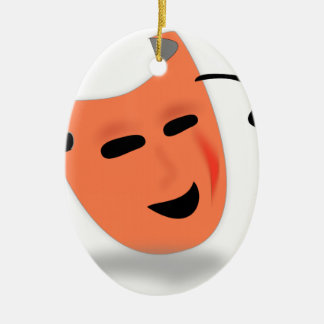 Halloween Mask Costume Ceramic Oval Decoration