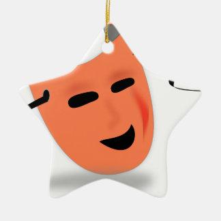 Halloween Mask Costume Ceramic Star Decoration