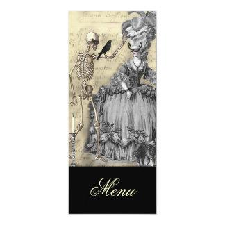 Halloween Masquerade Ball Menu 4x9.25 Paper Invitation Card