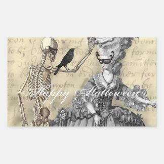 Halloween Masquerade Ball Rectangular Sticker