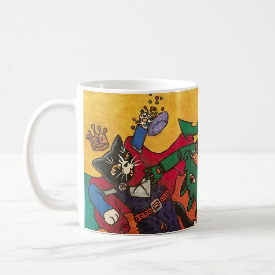 Halloween Medieval Knight Costume Cats Coffee Mug
