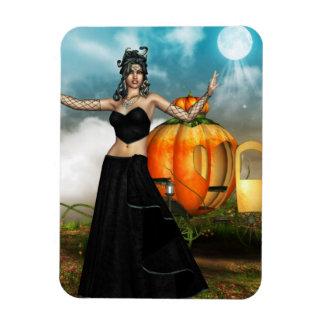 Halloween Medusa Rectangle Magnets