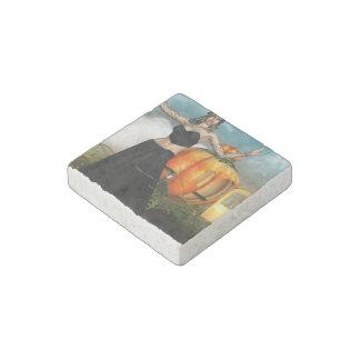 Halloween Medusa Stone Magnet
