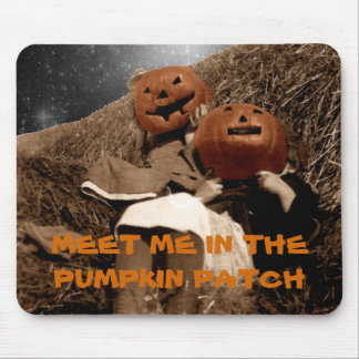 HALLOWEEN MEET ME IN THE PUMPKIN PATCH PHOTO ART MOUSE MAT
