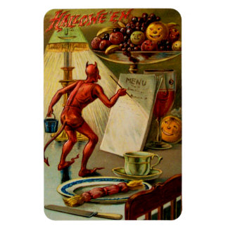 Halloween Menu Vinyl Magnet