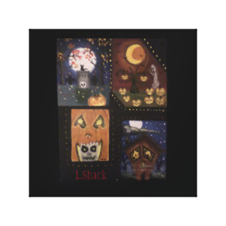 Halloween Mini Art by L.Shack Stretched Canvas Prints