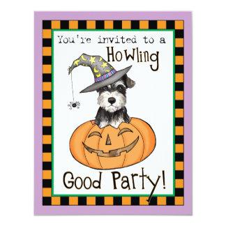 Halloween Miniature Schnauzer Card