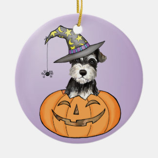 Halloween Miniature Schnauzer Christmas Ornament