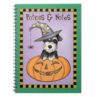 Halloween Miniature Schnauzer Spiral Notebook