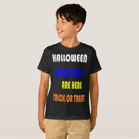 Halloween Monster Children Tee Shirt