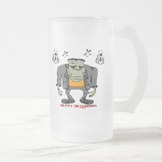 Halloween Monster Frosted Glass Mug