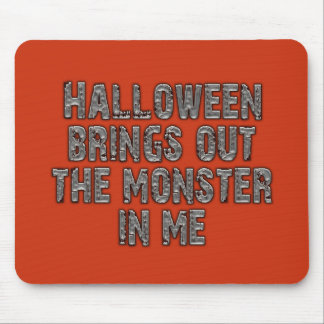 Halloween Monster In Me (Mummy Grey) Mouse Pad