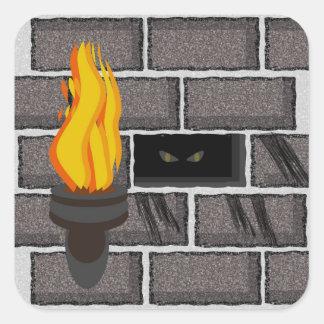 Halloween Monster in the Walls Sticker