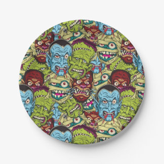 Halloween Monster Mash 7 Inch Paper Plate