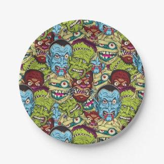 Halloween Monster Mash Paper Plate
