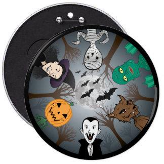 Halloween Monster's 6 Cm Round Badge