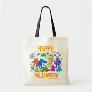 Halloween Monsters Tote Bag