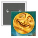 Halloween Moon 15 Cm Square Badge