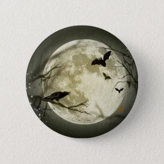 Halloween Moon 6 Cm Round Badge