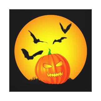 Halloween Moon Jack-O-Lantern Gallery Wrapped Canvas