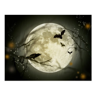 Halloween Moon Postcard
