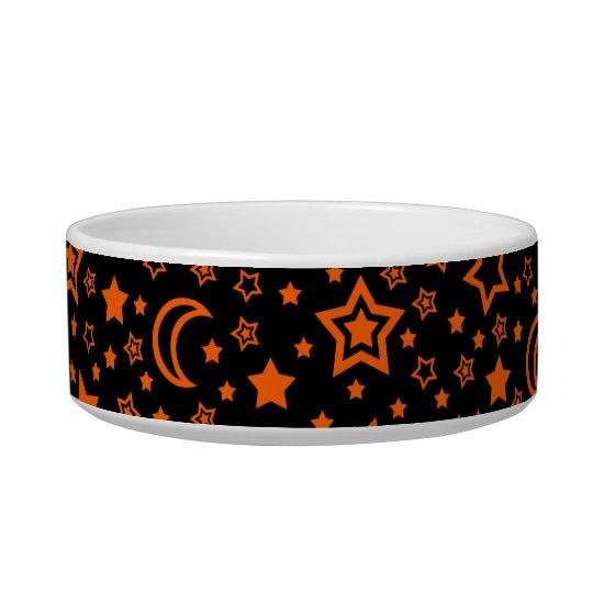 Halloween Moon & Stars (Small Dog) Bowl