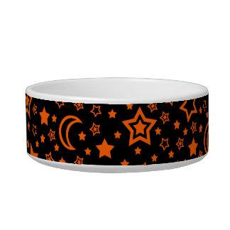 Halloween Moon & Stars (Small Dog) Bowl Cat Food Bowl