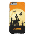 Halloween Moonlight Haunted House in Graveyard Barely There iPhone 6 Case