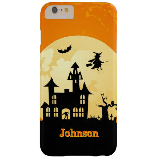 Halloween Moonlight Haunted House in Graveyard Barely There iPhone 6 Plus Case