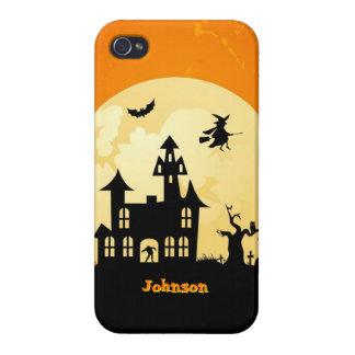 Halloween Moonlight Haunted House in Graveyard iPhone 4/4S Cases