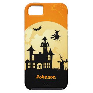 Halloween Moonlight Haunted House in Graveyard iPhone 5 Covers