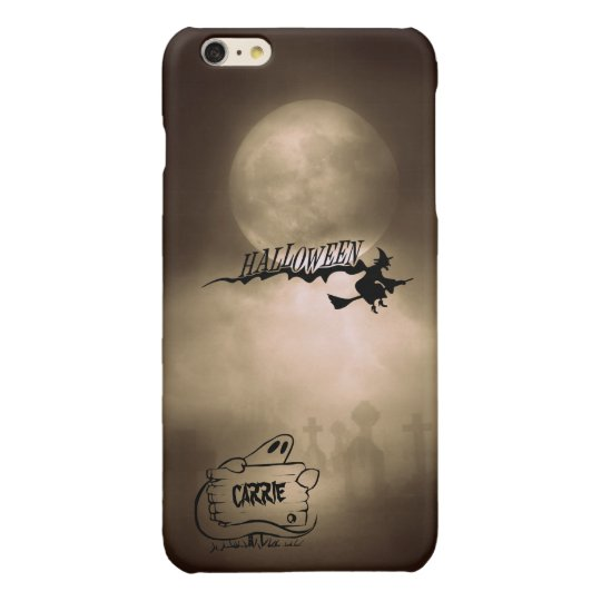 Halloween Moonlight Name Witch Ghost Graveyard iPhone 6