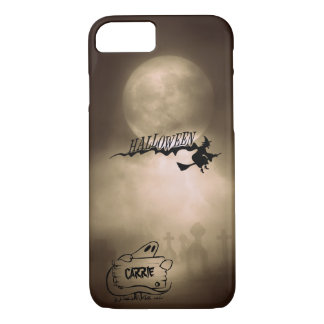 Halloween Moonlight Witch Ghost Graveyard Custom iPhone 8/7 Case