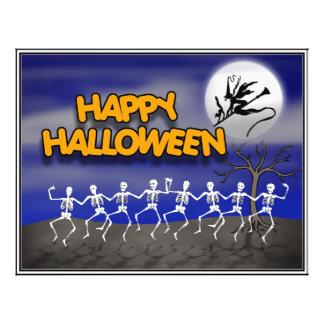 Halloween Moonlit Party Scene 21.5 Cm X 28 Cm Flyer