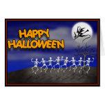 Halloween Moonlit Party Scene Greeting Card