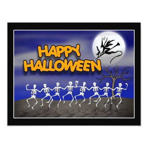 Halloween Moonlit Party Scene 11 Cm X 14 Cm Invitation Card