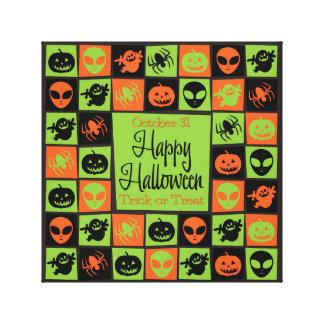Halloween mosaic canvas prints
