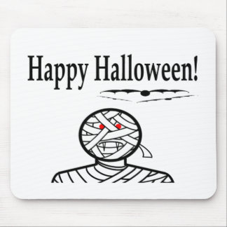 Halloween Mummy And Bats Mouse Pad