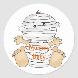 Halloween Mummy Baby Fun Stickers