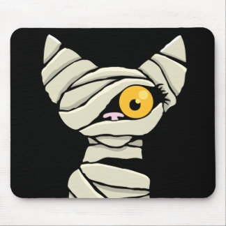 Halloween Mummy Cat Mousepad
