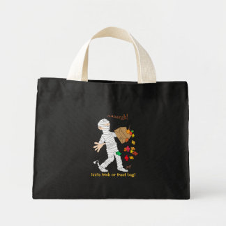 Halloween mummy costume with candy bag
