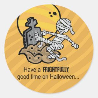 Halloween Mummy Round Sticker