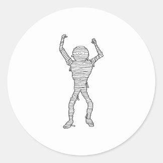 Halloween Mummy Round Stickers